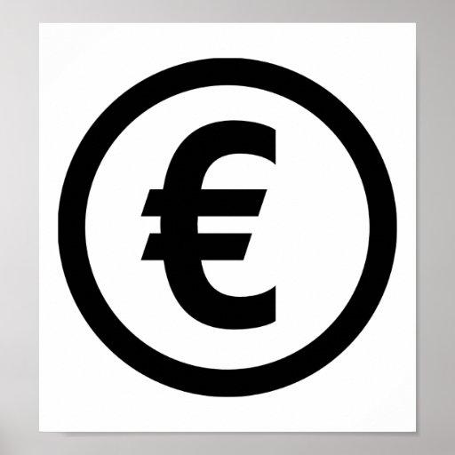 Euro symbol posters