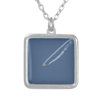Eurofighter Typhoon flight 3 Silver Plated Necklace