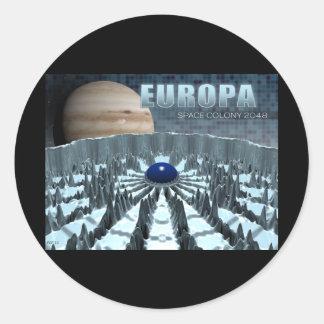 Europa 2048 round sticker