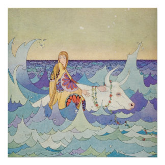 Europa and the Bull by Virginia Frances Sterrett Poster