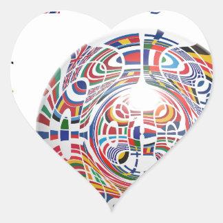 Europa ! heart sticker
