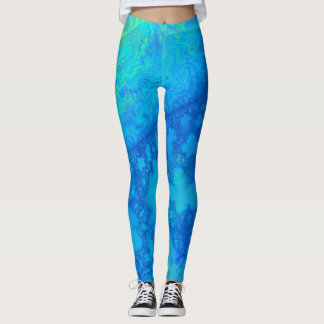 Europa JellyFish 3D Fractal Leggings