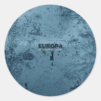 Europa Round Sticker