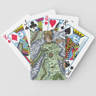EUROPE AS A QUEEN, 1588 BICYCLE PLAYING CARDS