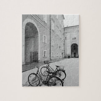 Europe, Austria, Salzburg. Bicycles in the Puzzle