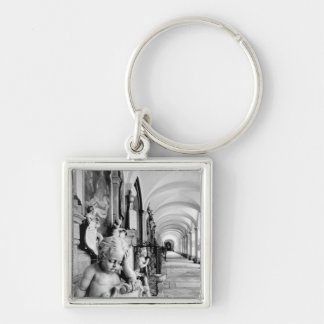 Europe, Austria, Salzburg. Cherub and monument 2 Silver-Colored Square Keychain