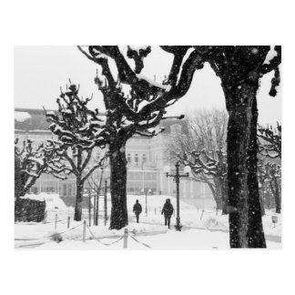 Europe, Austria, Salzburg. Winter, Postcard