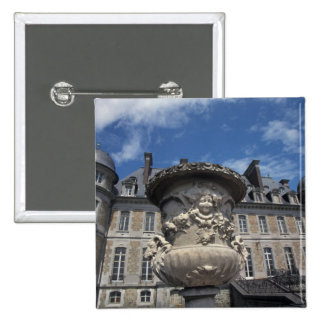 EUROPE, Belgium, Beloeil Castle 2 Inch Square Button