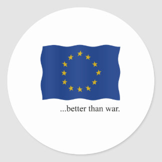 Europe - better than war round sticker