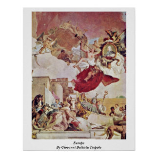 Europe By Giovanni Battista Tiepolo Poster