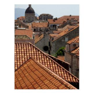 Europe, Croatia. Medieval walled city of 2 Postcard