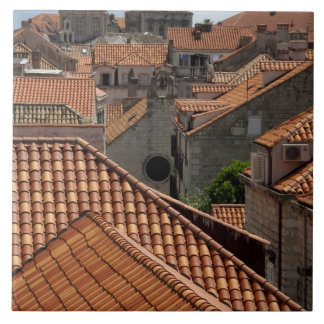 Europe, Croatia. Medieval walled city of 2 Tile