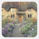 Europe, England, Chippenham. Early morning light Square Sticker