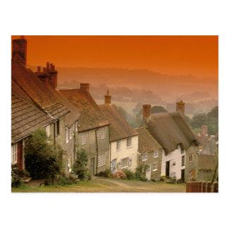 Europe, England, Dorset, Shaftesbury. Gold hill Postcard