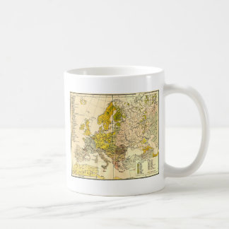Europe ethnic map 1897 (hungarian version) coffee mug