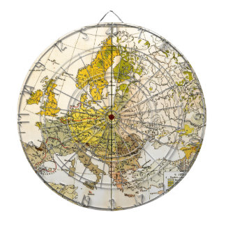 Europe ethnic map 1897 (hungarian version) dartboard