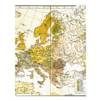 Europe ethnic map 1897 (hungarian version) letterhead