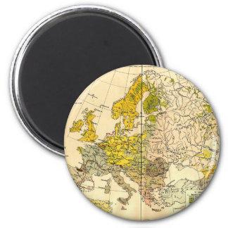 Europe ethnic map 1897 (hungarian version) magnet