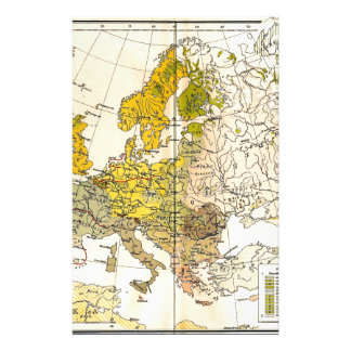 Europe ethnic map 1897 (hungarian version) stationery