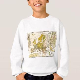 Europe ethnic map 1897 (hungarian version) sweatshirt