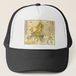 Europe ethnic map 1897 (hungarian version) trucker hat