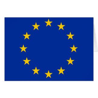 Europe flag card