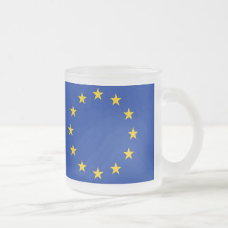 Europe flag frosted glass coffee mug