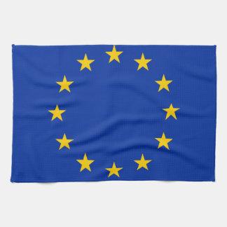 Europe flag kitchen towel