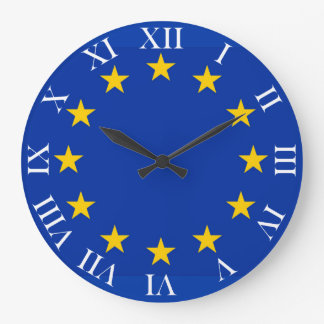 Europe flag large clock