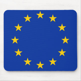 Europe flag mouse pad