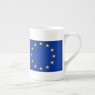 Europe flag tea cup