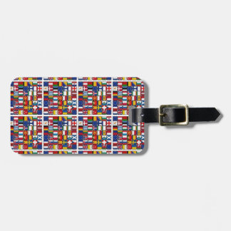 Europe flags luggage tag