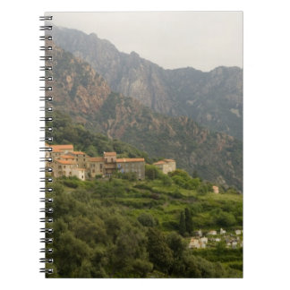 Europe, France, Corsica, Ota.  Town of Ota and Notebooks