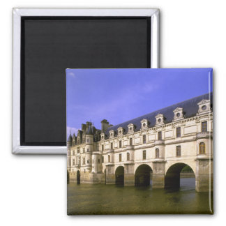 Europe, France, Loire Valley. Chateau Square Magnet