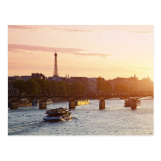 Europe, France, Paris (75), Tourist Boat on Postcard