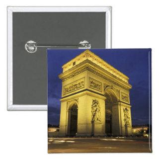 Europe, France, Paris. Arc de Triomphe 2 Inch Square Button