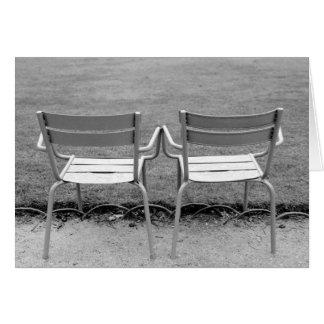 Europe, France, Paris. Chairs, Jardin du 2 Card