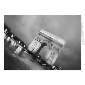 Europe, France, Paris. Spinning Arc de Triomphe Card