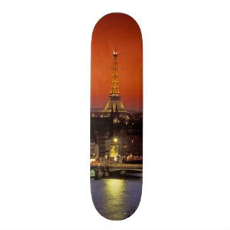Europe, France, Paris. Sunset view of Eiffel Skateboards