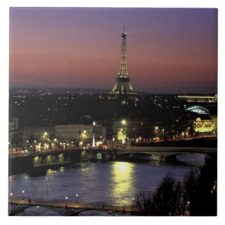 Europe, France, Paris, Sunset view of Eiffel Tile