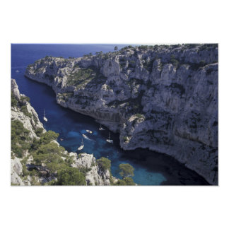 Europe, France, Provence, Calanques. Limestone Poster