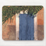 Europe, France, Roussillon. Ivy covers the wall Mousepad