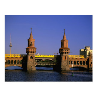 Europe, Germany, Berlin. Kreuzberg, Oberbaum Postcard