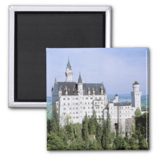 Europe, Germany, Neuschwanstein Castle, built Square Magnet