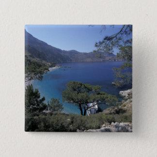 Europe, Greece, Karpathos, Dodecanese; Apella 2 Inch Square Button