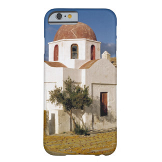 Europe, Greece, Mykonos. Fishing nets dry on the Barely There iPhone 6 Case