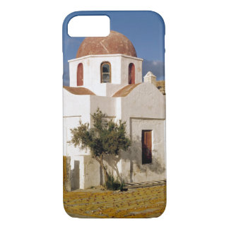 Europe, Greece, Mykonos. Fishing nets dry on the iPhone 7 Case