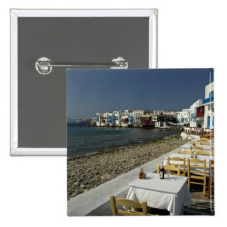 Europe, Greece, Mykonos. Views of the seaside 2 Inch Square Button