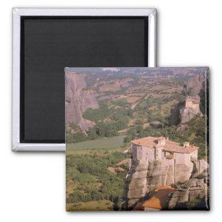 Europe, Greece, Thessaly, Meteora, Kastraki. Square Magnet