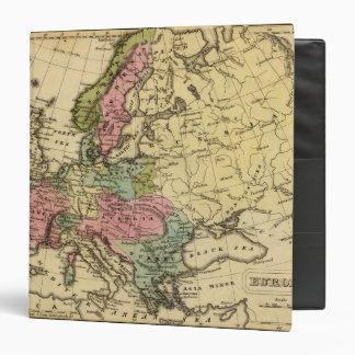 Europe Hand Colored Atlas Map 2 3 Ring Binders